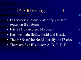 Advanced IP-Addressing