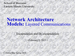 Network Architecture Models - Eastern Illinois University