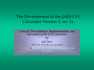 JAES LVI Calculator Power Point