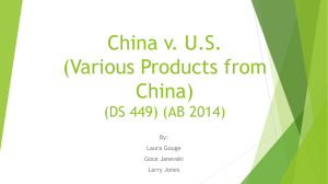 China v. U.S. (Various Products from China) (DS 449) (AB 2014)