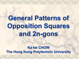 General Patterns of Opposition Squares and 2n-gons