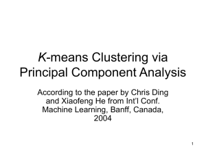 K-means Clustering via Principal Component Analysis