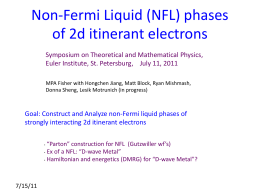 Non-Fermi liquid phases for itinerant electrons