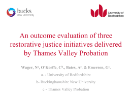 An outcome evaluation of three restorative justice initiatives