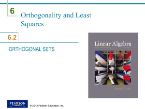 orthogonal set