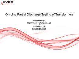 On-line PD testing & Diagnosis of Transformers