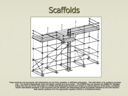Subpart L Scaffolds