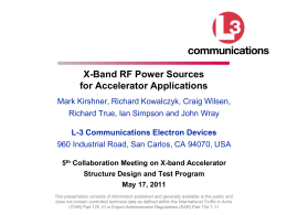 2011 X-band Products