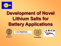 Nowe zaprojektowane sole jako elektrolity do baterii litowych