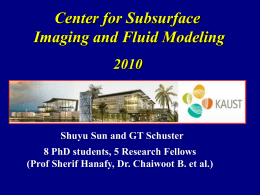 PPT - University of Utah`s Tomography and Modeling/Migration