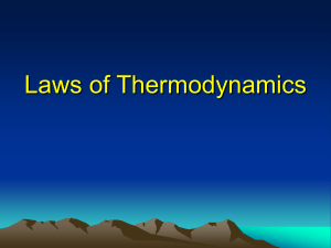 Laws of Thermodynamics - MIT Haystack Observatory