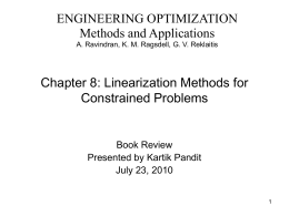 Linearization Methods for Constrained Problems