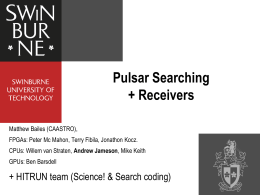 Pulsar and Fast Transient Searching with the Parkes telescope