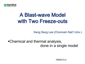 Two Freeze out Model in Relativistic Heavy ion Collisions