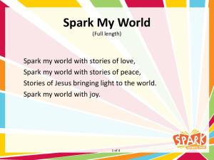 Spark My World (Spark Theme Song – full length)
