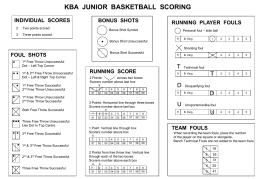 KBA-Scoring - Caroline Springs Blue Devils Basketball