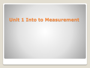 Unit 1 Measurement