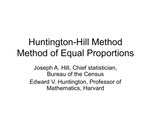 Huntington-Hill Apportionment Method