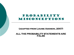 Probability Misconception answers