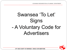 `To Let` Signs A Voluntary Code for Advertisers