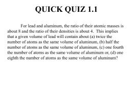 Quick Quiz 1 - Sdsu