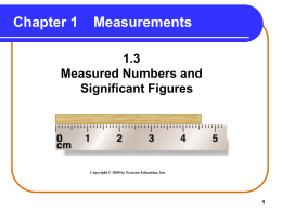 1_3 Measured Numbers and Significant Figures