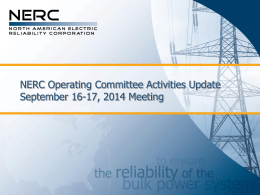 NERC OC Report - WECC October 2014 Update r1