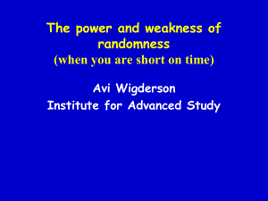 The Power of randomness - Isaac Newton Institute for Mathematical