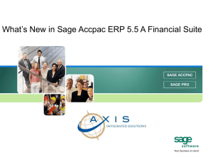 Whats New in Sage 300 ERP (Accpac)