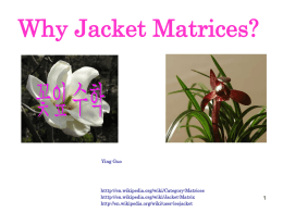 Jacket matrix