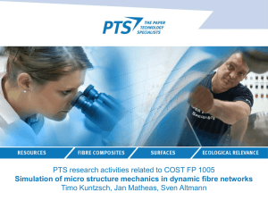 Simulation of micro structure mechanics in dynamic fibre networks