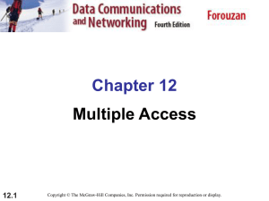 Chapter 12. (Data-link Layer) Multiple Access