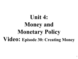 AP Macro 4-3 Three Tools of Monetary Policy