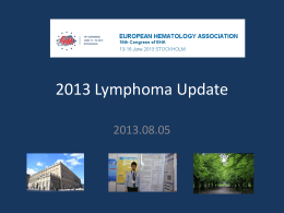 2013 EHA lymphoma update