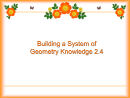 Building a system of Geometry knowledge