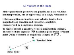 6.3 Vectors in the Plane