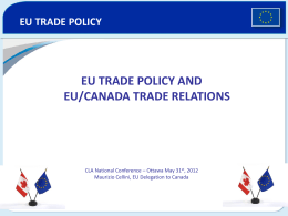 European Union – Canada Workshop in Western Canada
