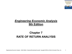 Engineering Economic Analysis - 9th Edition