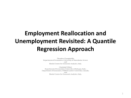 Employment Reallocation and Unemployment Revisited: A Quantile