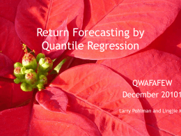 Return Forecasting by Quantile Regression