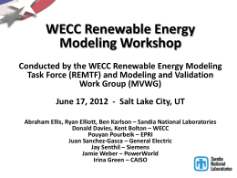 Ellis - WECC REMTF Workshop - SLC