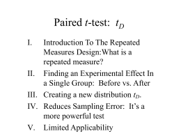 11 Paired t-test