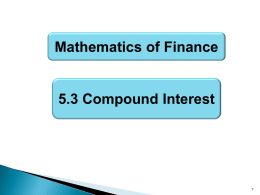 5.3: Compound Interest