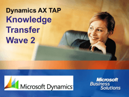 Dynamics™ AX Business Connector