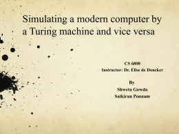Simulating a modern computer by a Turing machine and vice versa