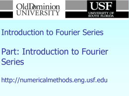Introduction to Fourier Series
