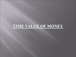 time valueof money