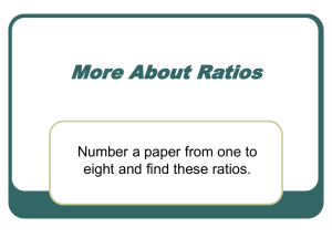 About Ratios - Western Reserve Public Media
