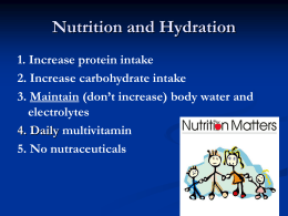 Nutrition and Hydration in BUD/S