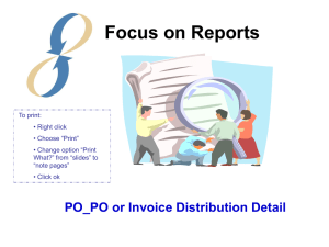 Session 18: PO or Invoice Distribution Detail